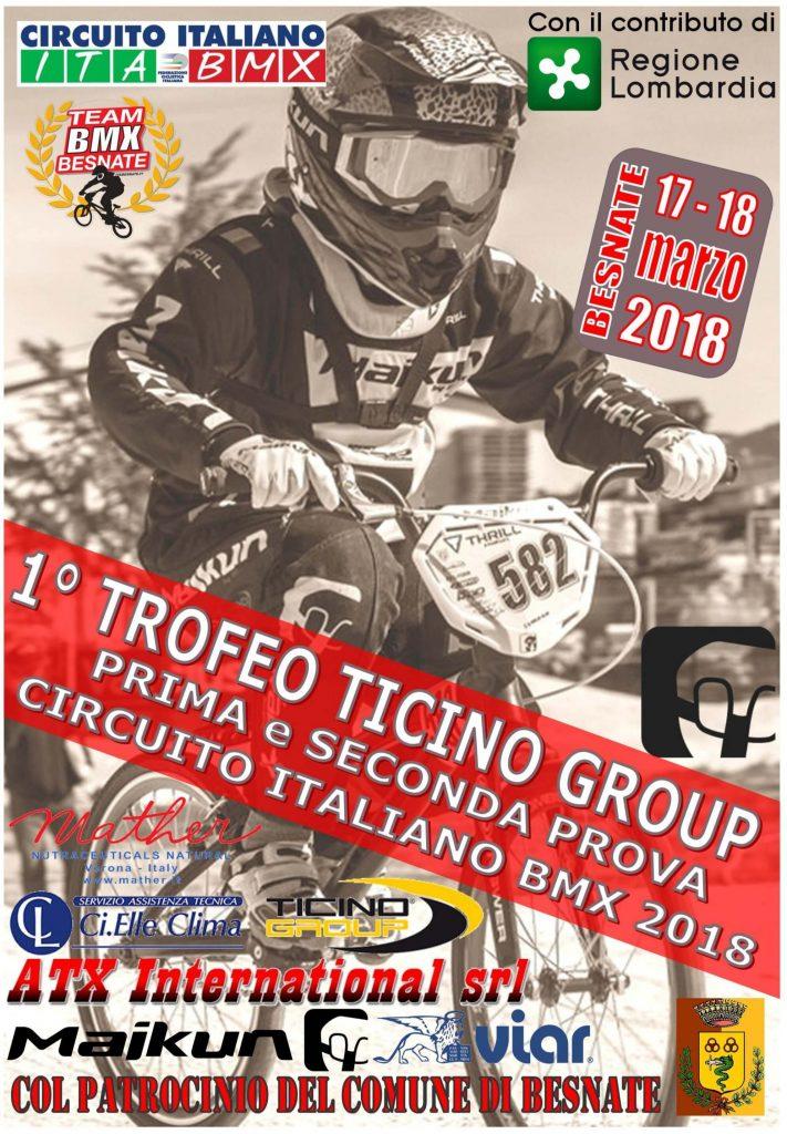 Volantino 1 e 2 Prova Circuito Italiano Besnate 17-18 Marzo 2018