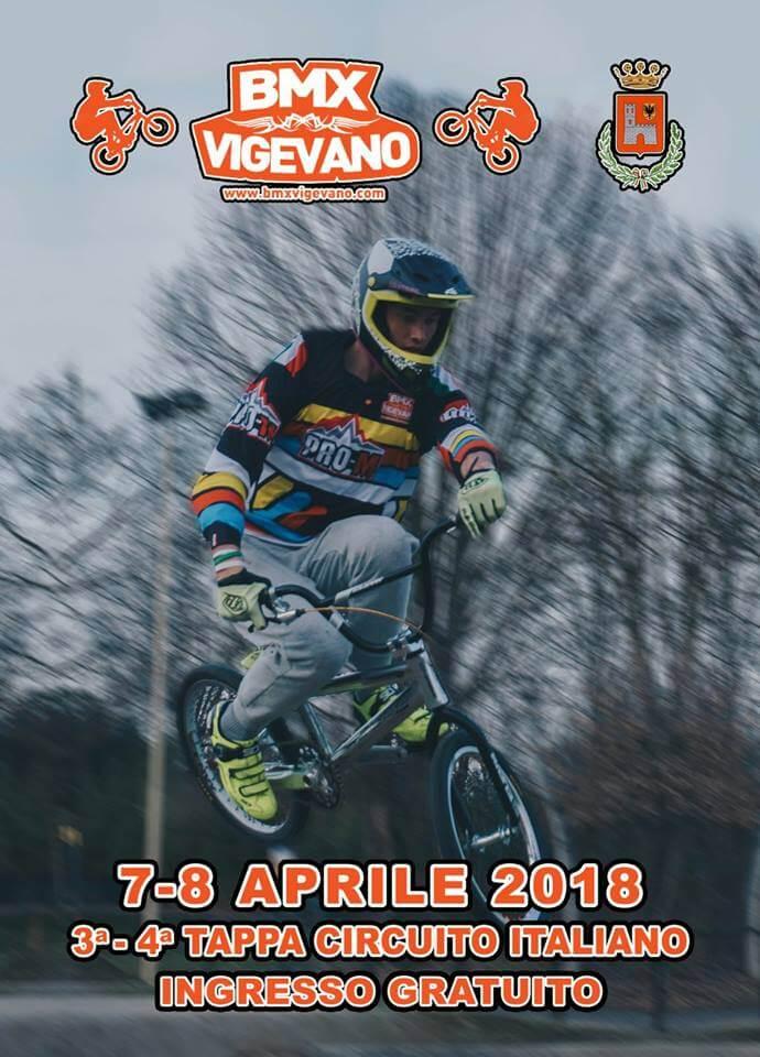 3° e 4° Prova Circuito Italiano – Vigevano 7-8 Aprile 2018 - Locandina