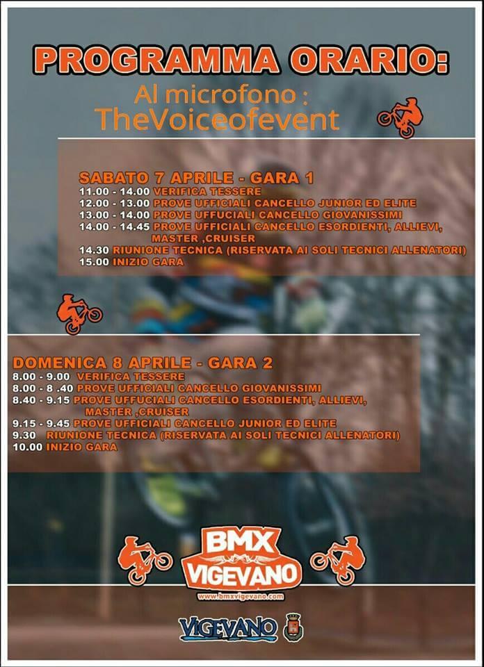 3° e 4° Prova Circuito Italiano – Vigevano 7-8 Aprile 2018