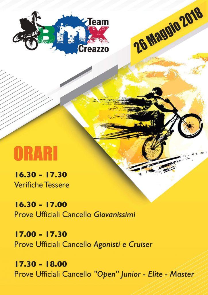 2° Tappa Circuito Triveneto - Orari e Dettagli – Creazzo 26 Maggio 2018