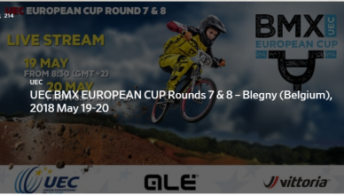UEC BMX EUROPEAN CUP 2018 ROUND 7 & 8 LIVE STREAMING BLEGNY