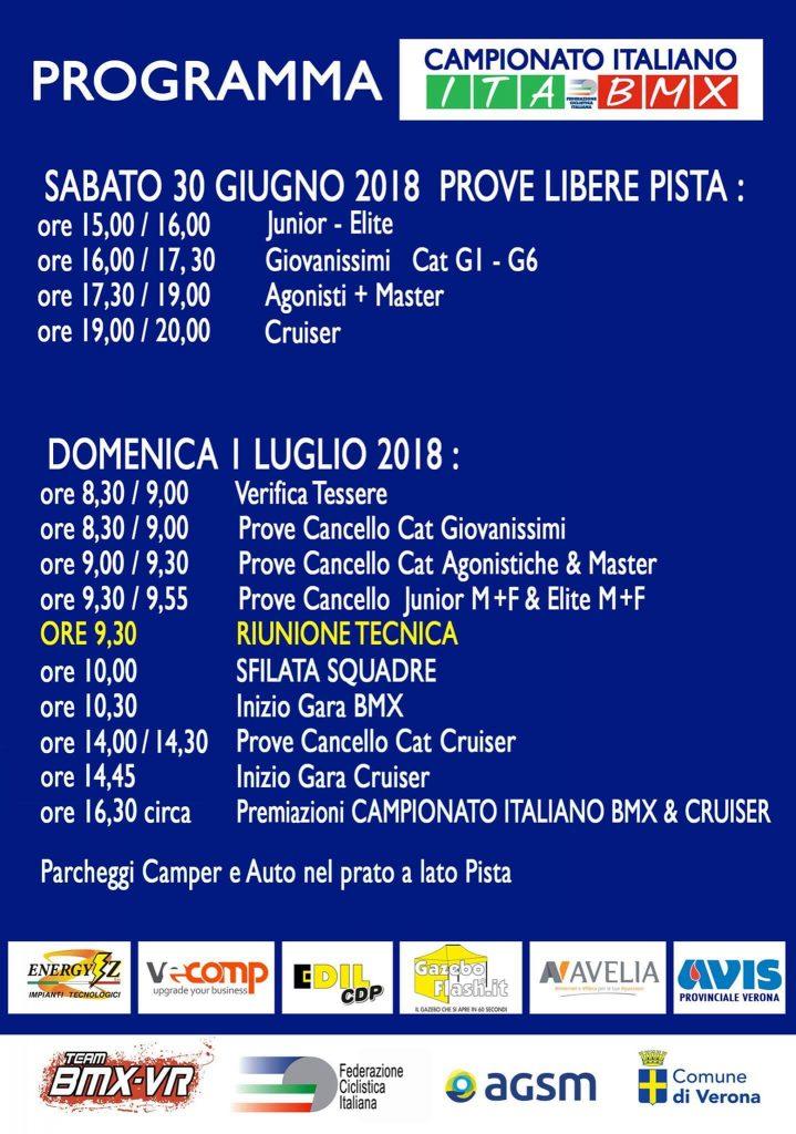 Campionato Italiano Bmx 2018 - Verona 1 Luglio 2018