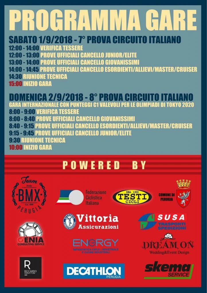 7° e 8° Prova Circuito Italiano – Perugia 1-2 Settembre 2018
