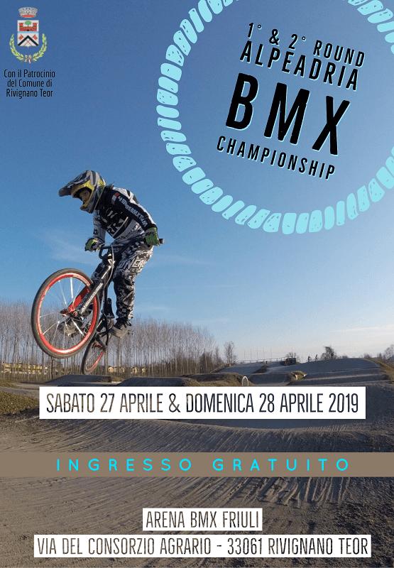 1° & 2° Round Alpeadria BMX Championship 2019 - Rivignano 27-28 Aprile - Locandina